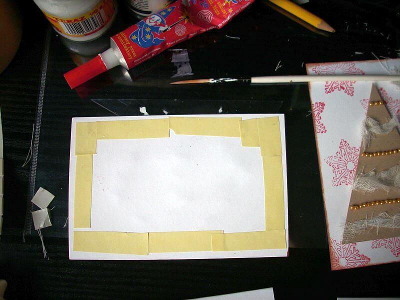 kartka ręcznie robiona
