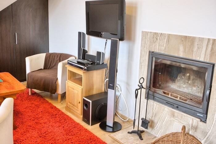 Kominek w apartamencie w Zakopanem