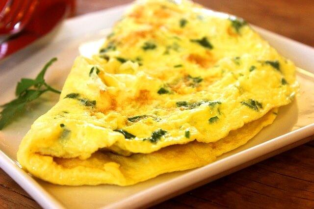 omlet na śniadanie