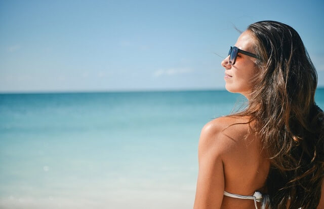 Kobieta na plaży