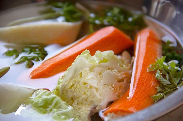 Dietetyczne danie na talerzu