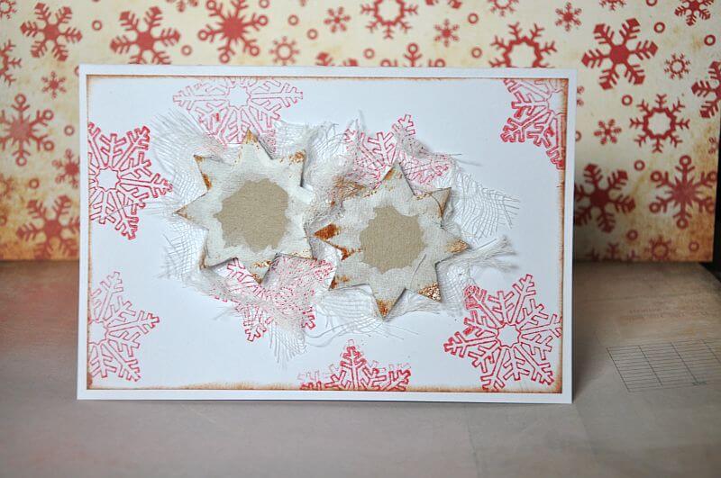 kartka ręcznie robiona na Boże Narodzenie tył
