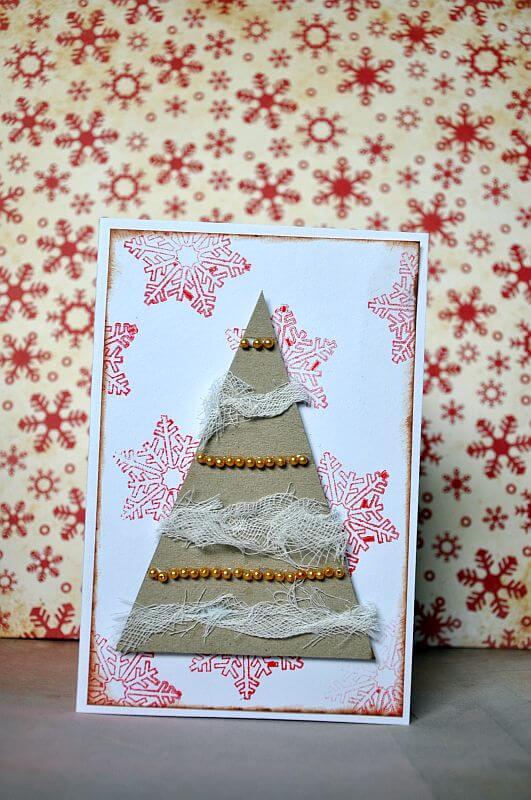 kartka na Boże Narodzenie robiona ręcznie