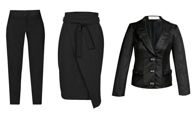 Spódnica, spodnie i garsonka do pracy