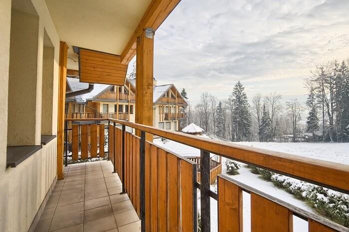 Widok z balkonu w apartamencie