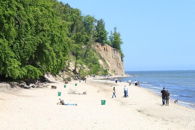 Plaża i klif w Gdyni