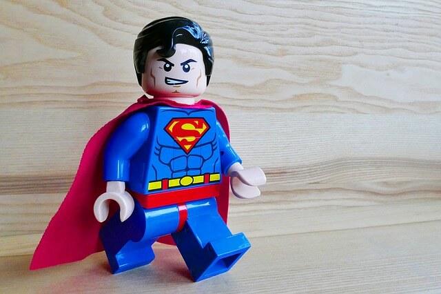 superman z klocków lego