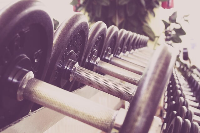 fitness hantle siłownia