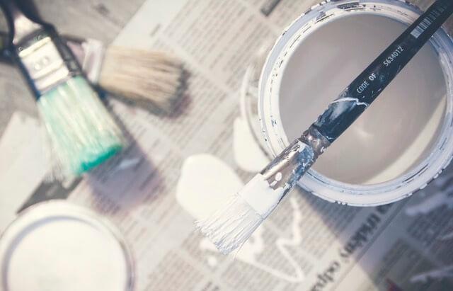 Pędzel i farba do malowania