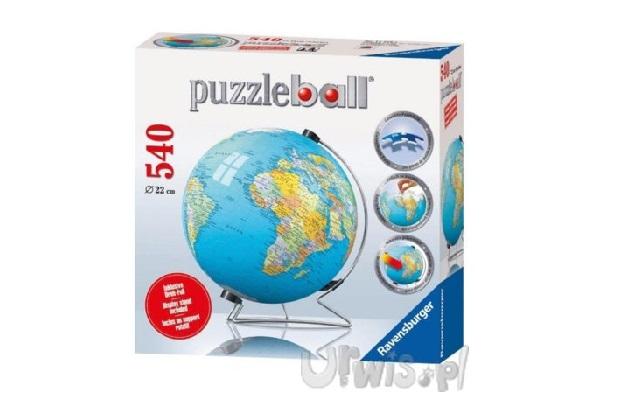 Puzzle kuliste globus
