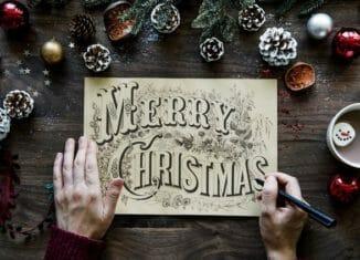 Kartka z napisem merry christmas