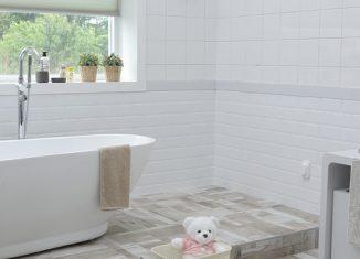 wykafelkowana łazienka